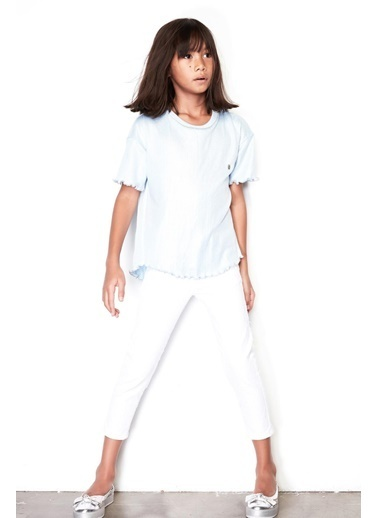 Tyess Kız Çocuk Beyaz Pantolon 19SS0TJ4210 Beyaz